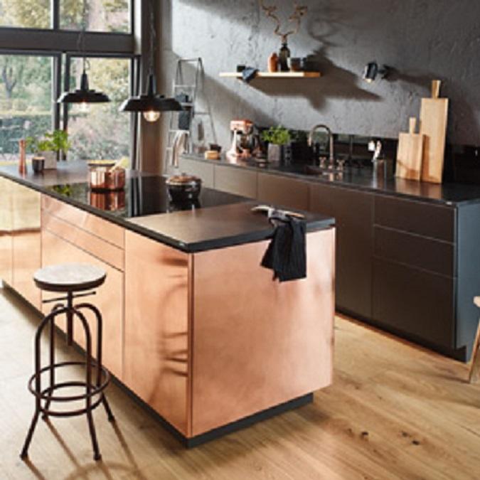 Metal Look Kitchen Doors