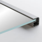 Aluminum Frame with Glass Cabinet Doors